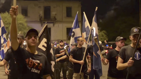 Greek nationalists march in Cyprus to mark Turkish invasion in 1974