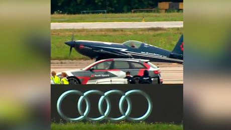 Racing cars challenge planes at MAKS 2017 (VIDEO, PHOTOS)