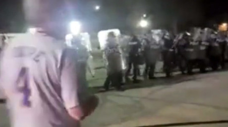 Police clash with protesters outside Saint Louis county jail