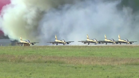 Russian jets paint the sky at MAKS 2017