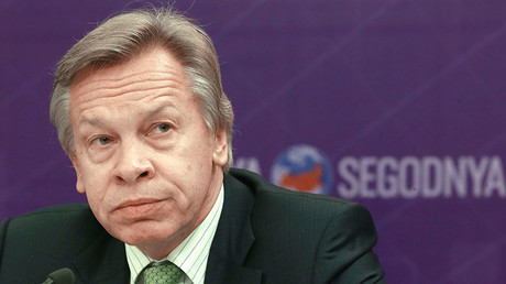 Member of the Federation Council Defense and Security Committee Alexei Pushkov. © Alexander Natruskin