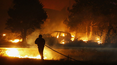 French Corsica battles raging wildfires