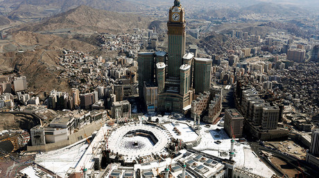 Aerial view of Kaaba at the Grand mosque in Mecca © Ahmed Jadallah