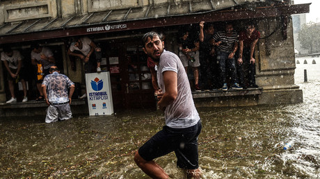 Severe hailstorm & heavy rainfall pound Istanbul