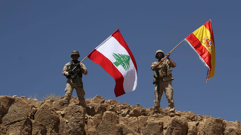 Lebanese army steamrolls ISIS border positions, raises Spanish flag for Barcelona victims