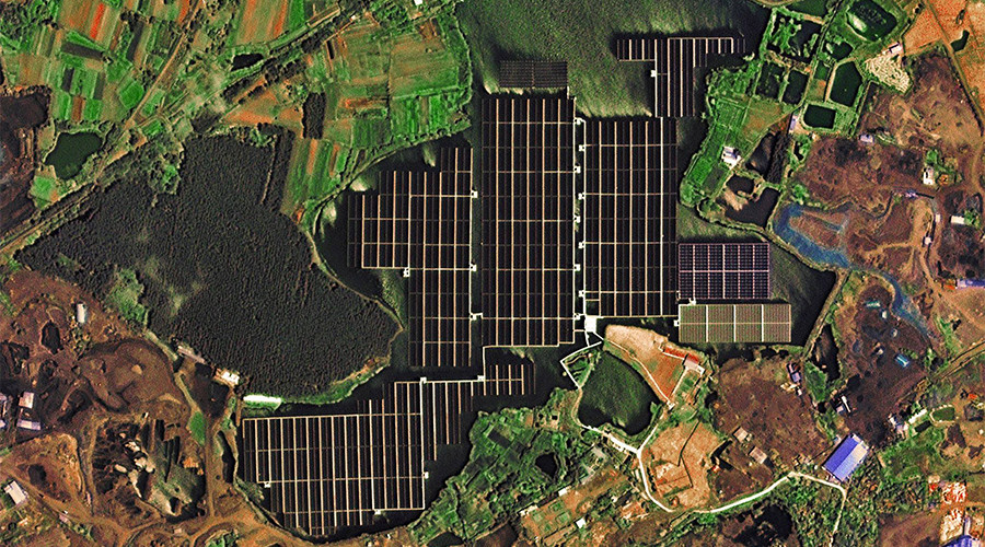 Satellite captures images of world's largest floating solar farm in China (PHOTOS, VIDEO)