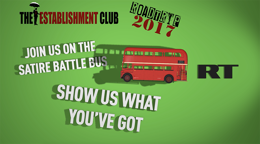RT & #EstClubTour join forces to find Britain's best new satirical talent