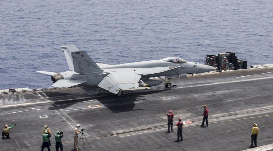 Iranian drone buzzes US Navy jet in Persian Gulf - Pentagon