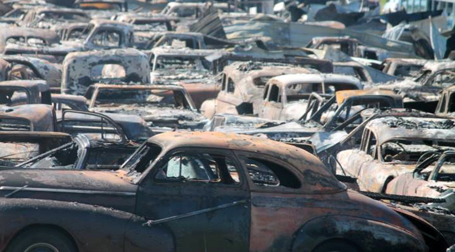 Classic Cars Wrecked In Massive Illinois Blaze Photos Rt