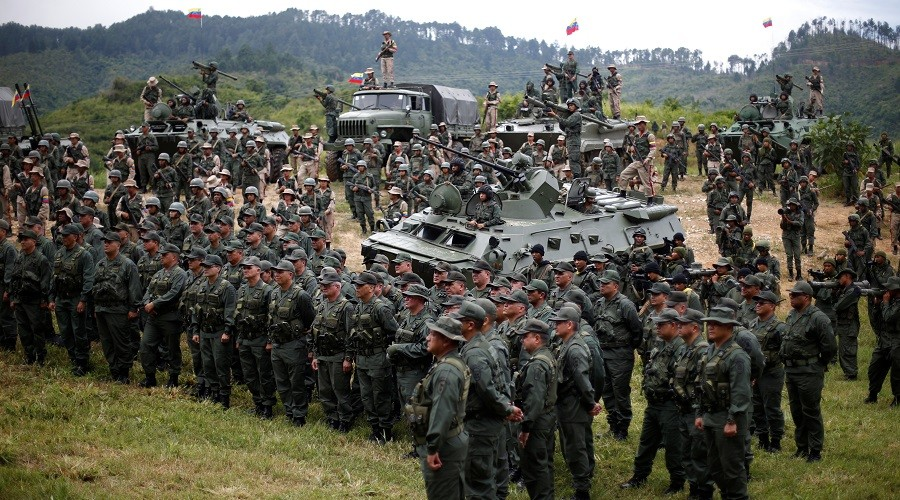 Maduro calls for nationwide 'anti-imperialist' drills after Trump's threat of 'military option'