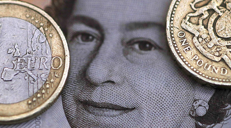 Pound worth less than euro in British airports as it plummets to 8-yr lows