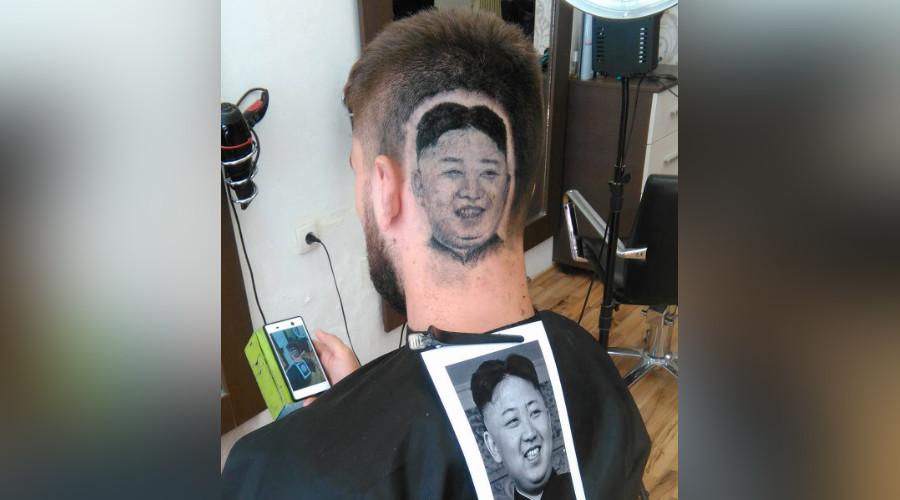 Trim Jong-un! Barber shaves image of N. Korea leader into client's scalp (VIDEO)