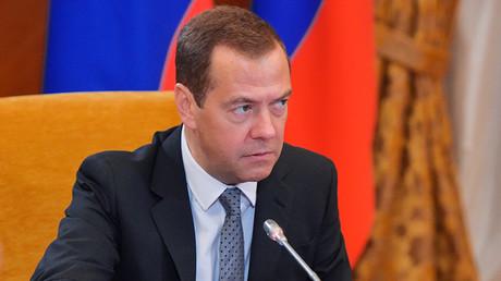 Russian Prime Minister Dmitry Medvedev  © Alexander Astafyev