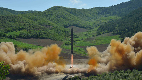 The intercontinental ballistic missile Hwasong-14 © KCNA