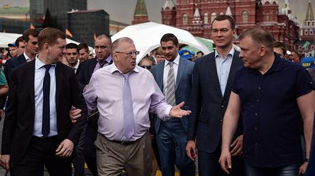 Vladimir Zirinovsky, (second left) leader of the Liberal Democratic Party. ©Vladimir Astapkovich