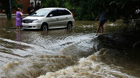 City goes under water after torrential rains in Russia's Far East (PHOTOS, VIDEO)