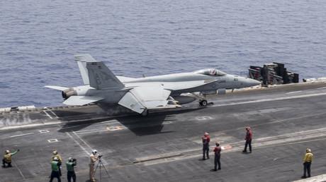 FILE PHOTO A U.S. Navy F/A-18E Super Hornet fighter jet © U.S. Navy