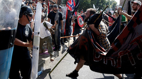 White supremacists clash with counter protesters at a rally in Charlottesville, Virginia, US, August 12, 2017 © Joshua Roberts