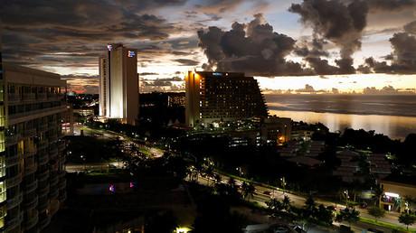 A view of Tumon tourist district at dusk on the island of Guam © Erik De Castro