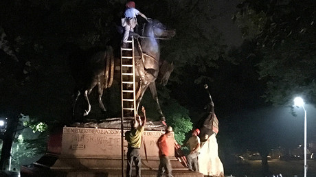 Baltimore removes 4 Confederate statues overnight amid fears of violence