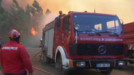 Massive wildfires sweep through Portugal amid severe drought