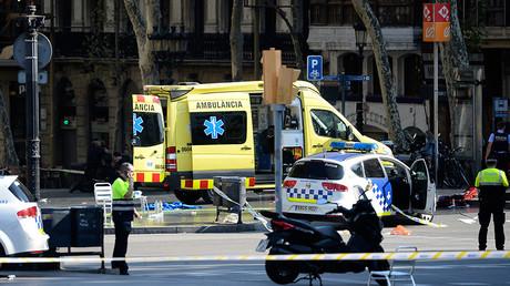Van smashes into pedestrians in central Barcelona