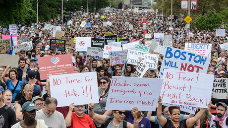 Boston 'Free Speech Rally' massively outnumbered by counter-protesters