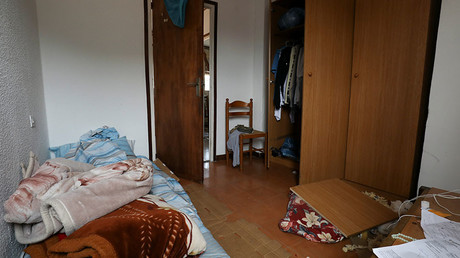A bedroom is seen after the police raided the flat where imam Abdelbaki Es Satty lived in Ripoll, north of Barcelona, Spain, August 19, 2017 © Susana Vera