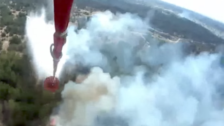Firefighting aircraft douse 4,800-hectare forest blaze in Rostov Region, Russia