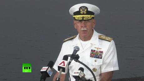 US Pacific Fleet Commander speaks after 'USS John S. McCain' collision in Singapore