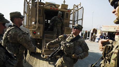 US soldiers are seen after a mission near forward operating base Gamberi in the Laghman province of Afghanistan. © Lucas Jackson