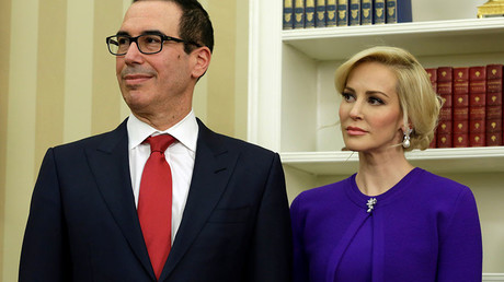 Treasury secretary's wife blasted for boasting of wealth on Instagram