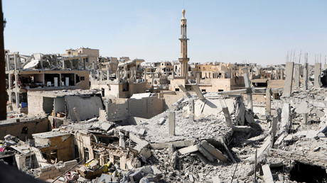 Damaged building are pictured during the fighting with Islamic State's fighters in the old city of  Raqqa © Zohra Bensemra