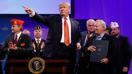 'We are one people': Trump pushes civic nationalism in American Legion speech (VIDEO)