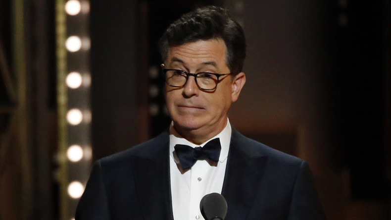 Late-night host Colbert gives Trump Nazi salute