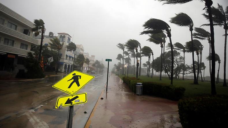 Stormchasers ignore dire storm warnings to measure Hurricane Irma windspeed (VIDEO)