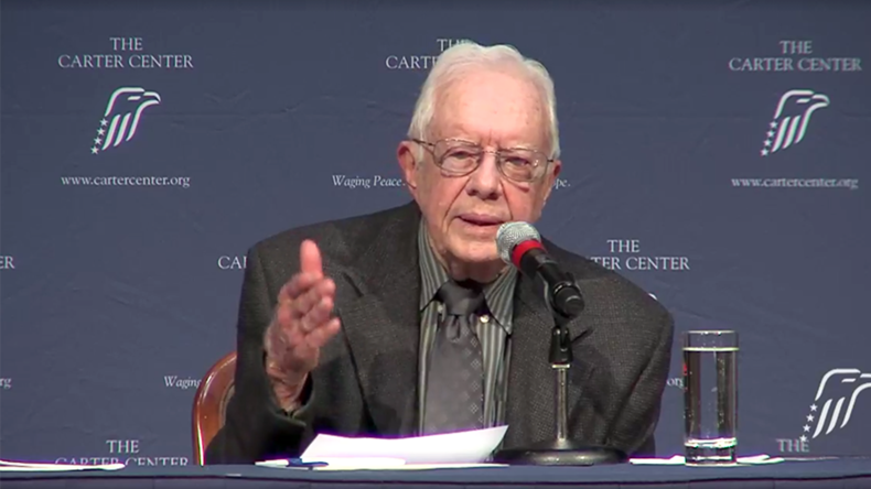 Jimmy Carter brands US 'oligarchy' & urges Trump to sign N. Korea peace treaty