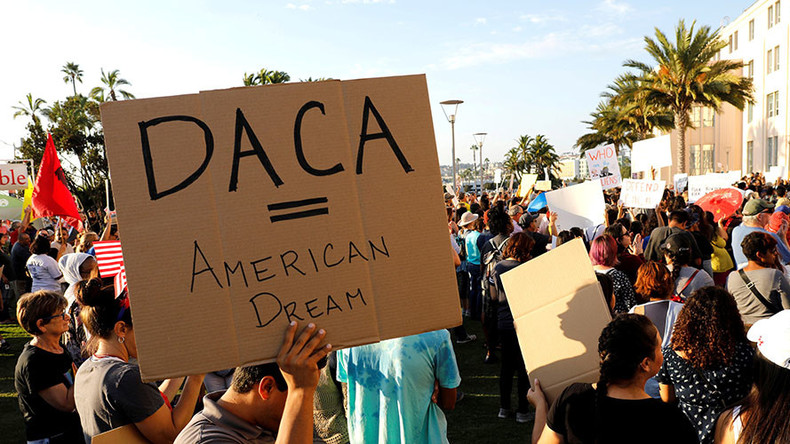 Off the wall: Trump denies agreeing to DACA deal, despite ...