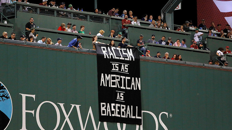 'As American as baseball': Racism banner sparks uproar at Red Sox game