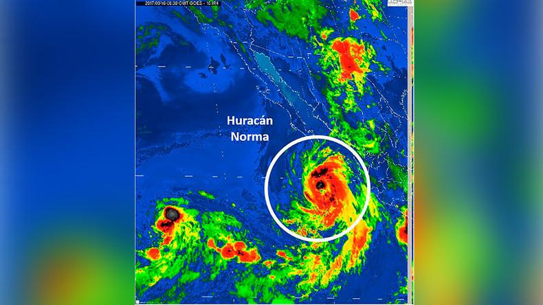 Tropical storm warning for Baja California as Hurricane Norma nears