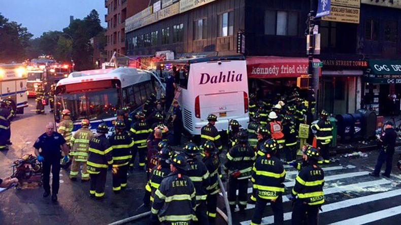 3 dead, 16 injured in Queens bus crash