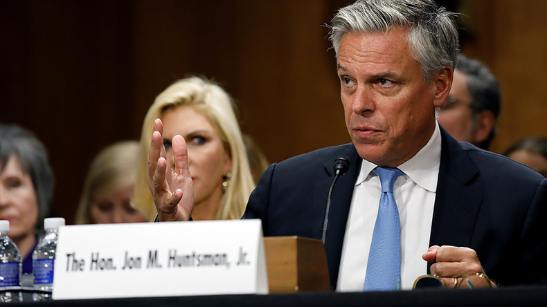 Huntsman bids for Russian ambassadorship by attacking, eh, Russia