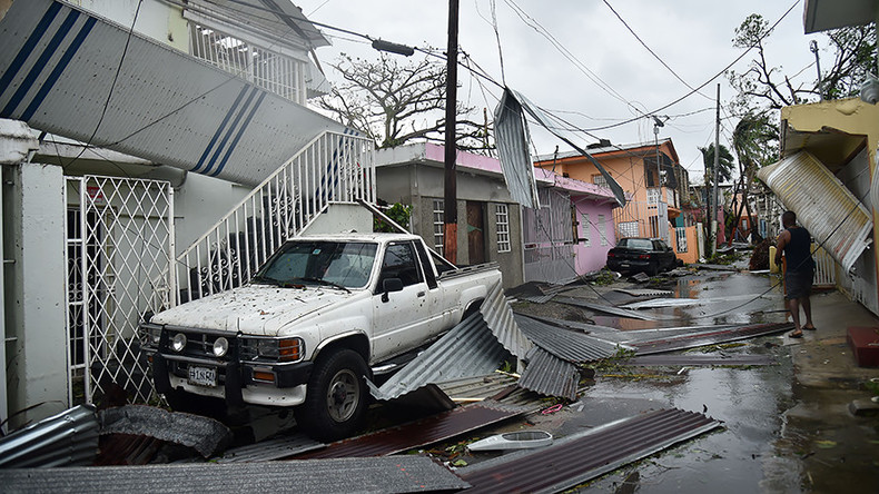 Hurricane Maria leaves Puerto Rico '100% without power'
