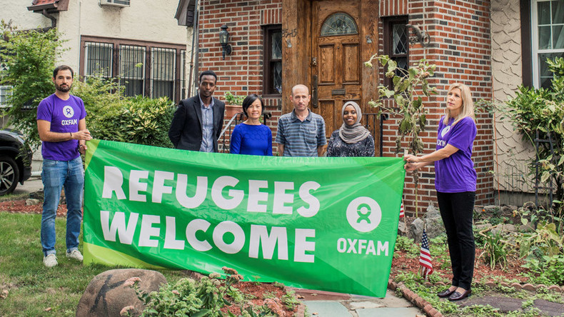 Charity rents out Trump's childhood home to refugees in publicity stunt