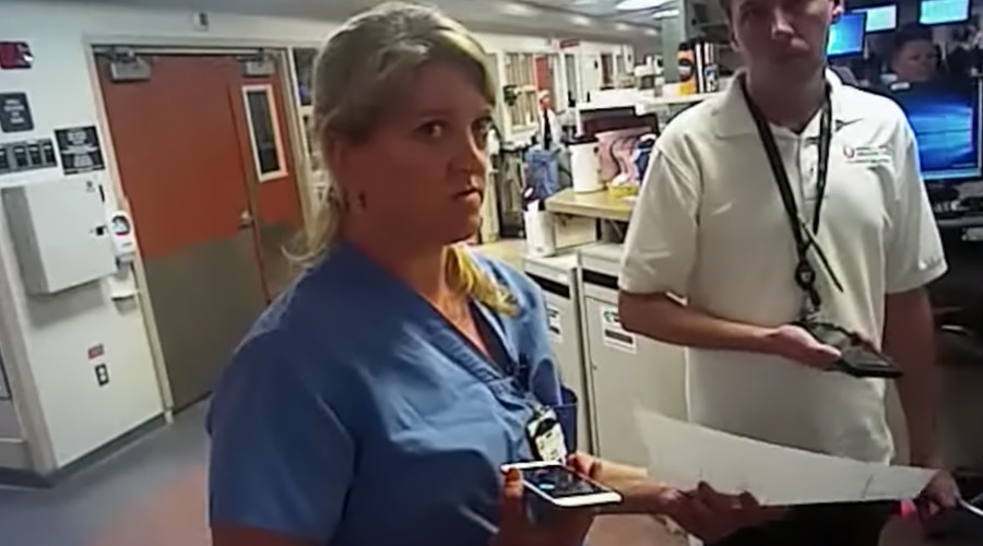 Police cuff Utah nurse after she refuses blood test on unconscious patient
