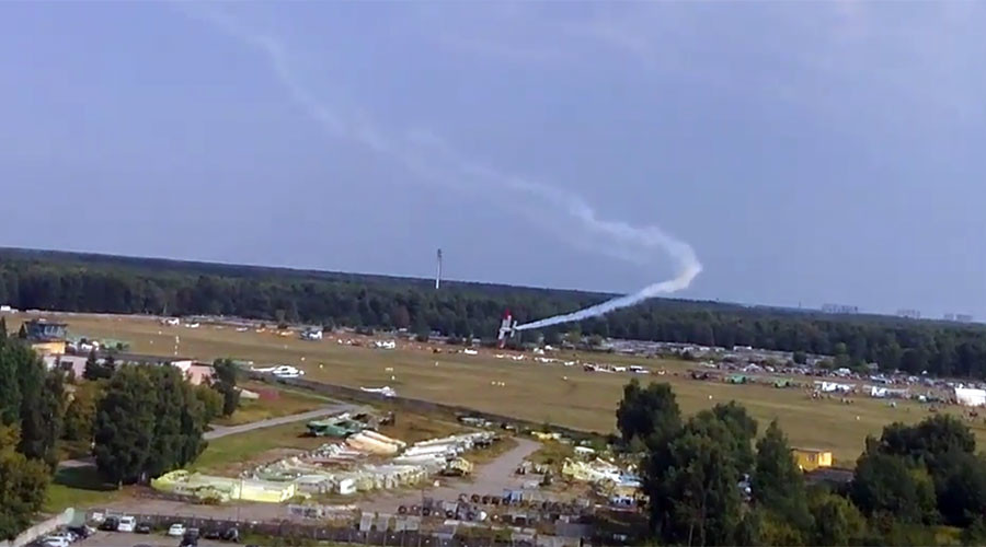 Airplane crashes killing 2 at the event dedicated to its 70th anniversary