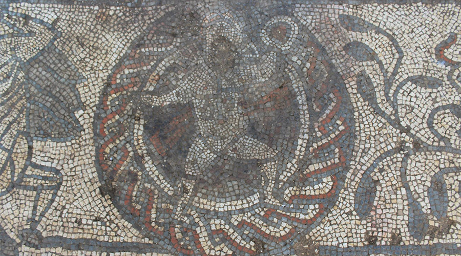 Rare Roman mosaic depicting Greek legends discovered in south east England (PHOTOS)