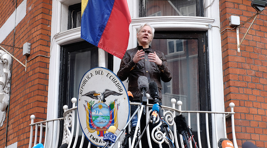 Russian diplomatic property in America 'inviolable', Assange tells US