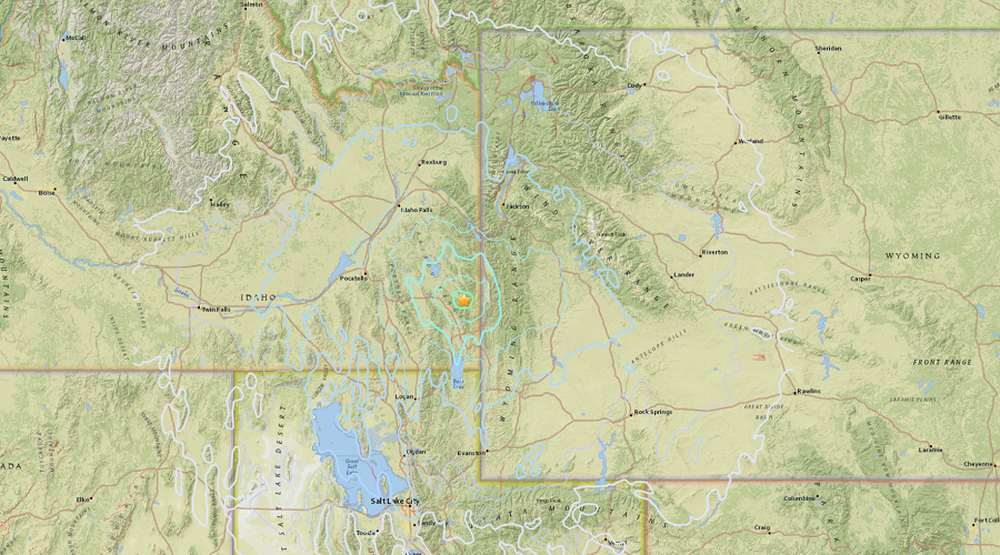 5.3 earthquake, aftershocks strike Idaho-Wyoming state border area