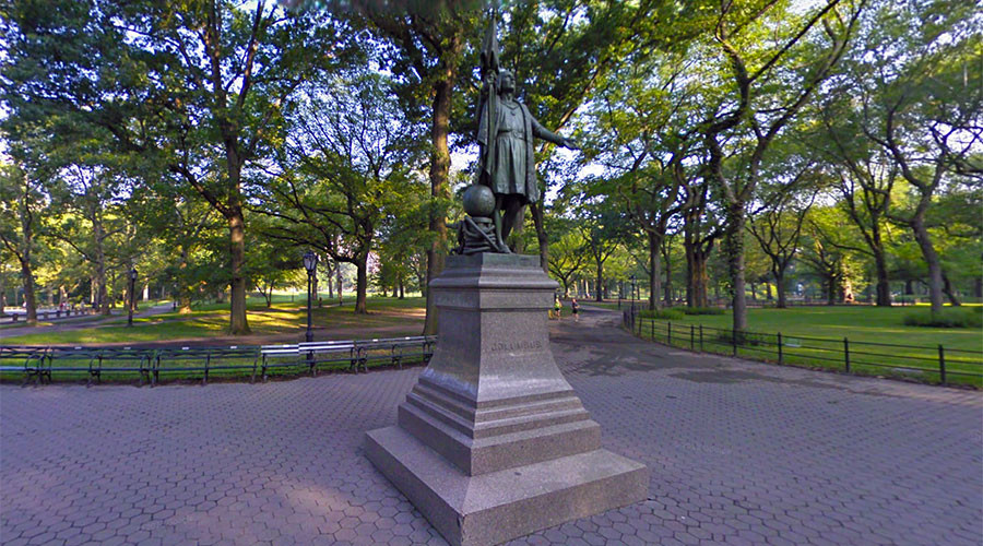 Christoper Columbus Statue Vandalized in NYC With Blunt Message: